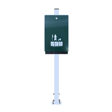 Green Dog Waste Bag Dispenser with Silver 1150mm Pole
