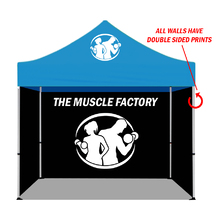 Promotional Gazebo Display 3m x 3m with Three Full Colour Double Sided Printed Wall