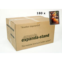 Vertical Clipback Postcard Holder Expandastand Carton (180)