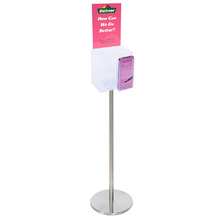 Premium Clear Suggestion Box with A4 Display on Silver Pole and Base with DL Brochure Holder  - Arriving 9 June - Call us to Preorder