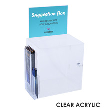 Premium Acrylic Clear A5 Suggestion Box Side Combo
