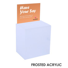 Premium Acrylic Frosted Suggestion Box A5
