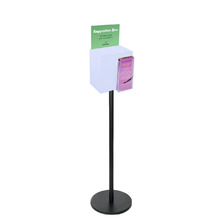 Premium Black Frosted Freestanding Suggestion Box A5 + DL