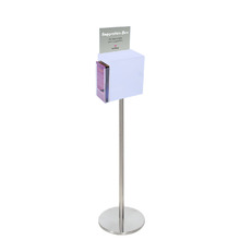 Premium Acrylic Frosted Freestanding Suggestion Box A5 + DL Side