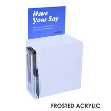 Premium Acrylic Frosted A5 Suggestion Box Side Combo