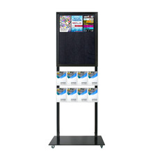 Tall Info Stand - 1 Felt Board with  8 A5 Brochure Holders