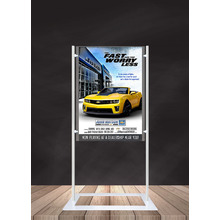 Premium Acrylic 1450mm Lobby Stand Holds A1 Poster Double Sided