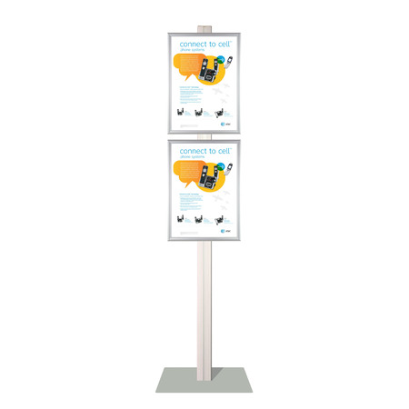 Retail Stand with 2 x A3 Snap Frames