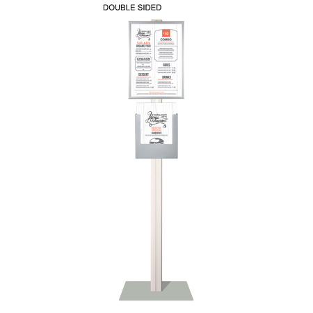 Retail Stand with A3 Snap Frame and A4 Brochure Holder Double Sided