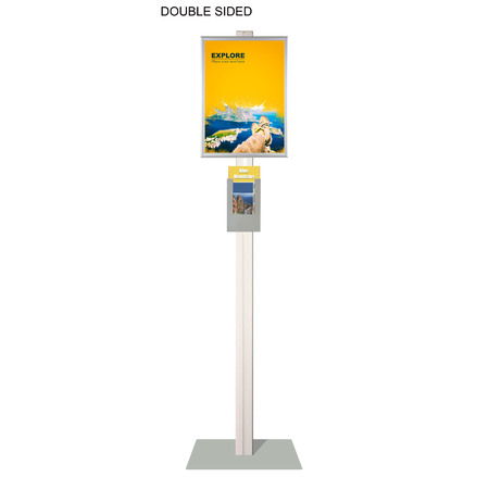 Retail Stand with A3 Snap Frame and DL Brochure Holder Double Sided