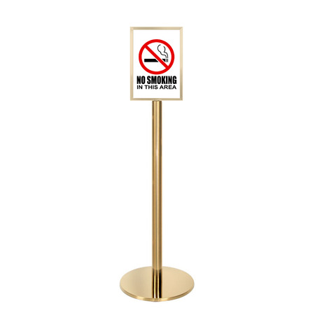 Gold Ezi Pole A4 Double Sided Steel Sign