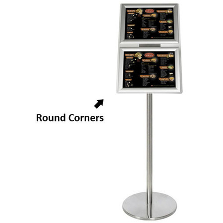 Ezi Pole with 2 A4 Landscape Square Cornered Snap Frames