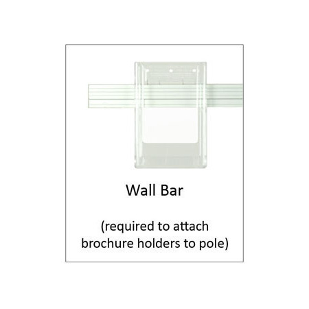 Small brochure bar for combo pole 450wide