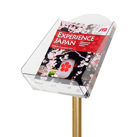 A4 Brochure Holder Attachment for Gold Rope Queue Barrier Pole