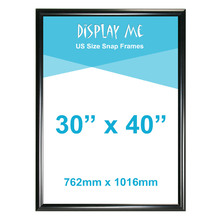 30 x 40 inch Black Snap Frame (762 x 1016mm)