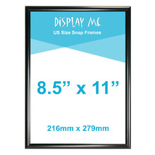 8.5 x 11 inch Black Snap Frame (216 x 279mm)