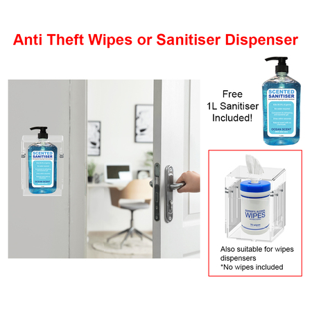 Wall Sanitation Station with Anti Theft Dispenser