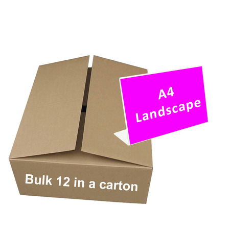 Bulk A4 Landscape Slanted Sign x 10 ($5.60 per unit)