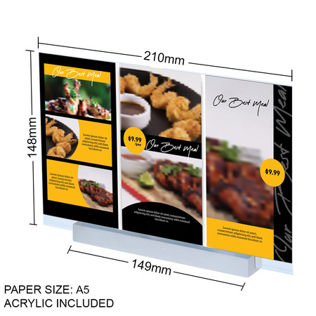Aluminium Landscape A5 Straight Sign Holder