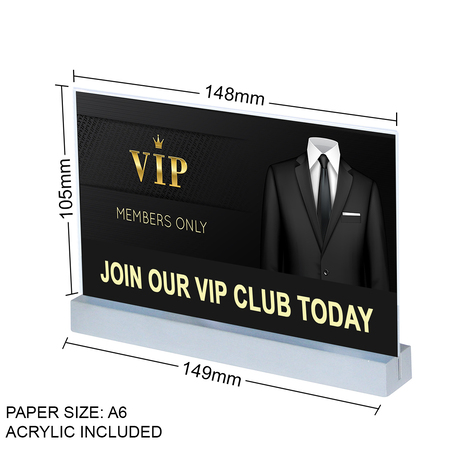 Aluminium Landscape A6 Straight Sign Holder