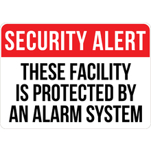 PRINTED ALUMINUM A4 SIGN - Security Alert Sign