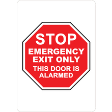 Stop Emergency Exit Only Sign