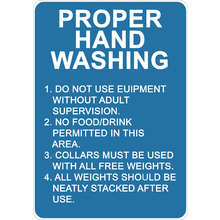 PRINTED ALUMINUM A4 SIGN - Proper Hand Washing Sign