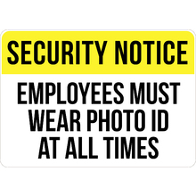 Employees Must Wear Photo Id A