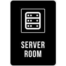 PRINTED ALUMINUM A4 SIGN - Server Room Sign