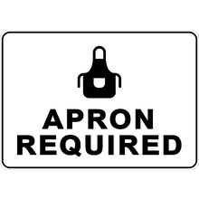 PRINTED ALUMINUM A4 SIGN - Apron Required Sign