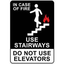 PRINTED ALUMINUM A5 SIGN - Use Stairways Than Elevators Sign