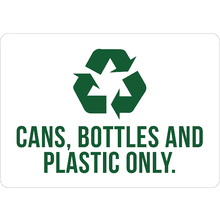"""Cans, Bottles And Plastic Onl"