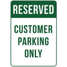 PRINTED ALUMINUM A3 SIGN - Customer Parking Only Sign
