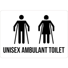 PRINTED ALUMINUM A3 SIGN - Unisex Ambulant Toilet Sign