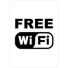 PRINTED ALUMINUM A4 SIGN - Free WI FI Sign