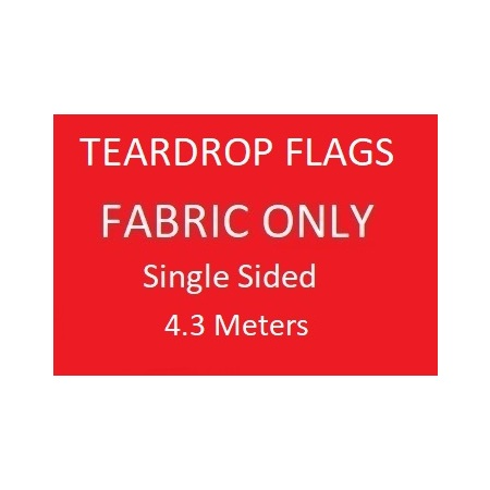 Teardrop Skin Only -  Single Sided Print Skin Only - 4.3m
