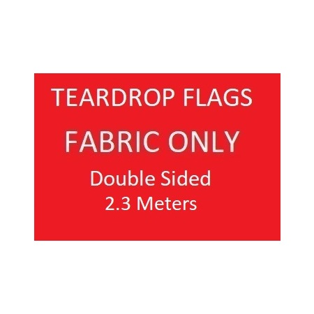 Teardrop Skin Only -  Double Sided Print Skin Only -  2.3m