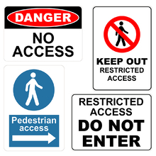 A3 Metal Access Signs