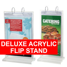 Deluxe Acrylic Flip Stand
