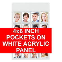4x6 Inch Pockets on White Acrylic Panel