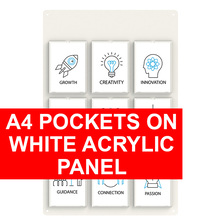 A4 Pockets on White Acrylic Panel
