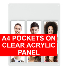 A4 Pockets on Clear Acrylic Panel