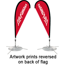 Single Sided Fabric Flags