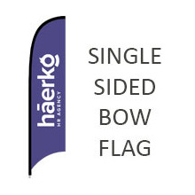 Single Sided Bow See-through Fabric Flags